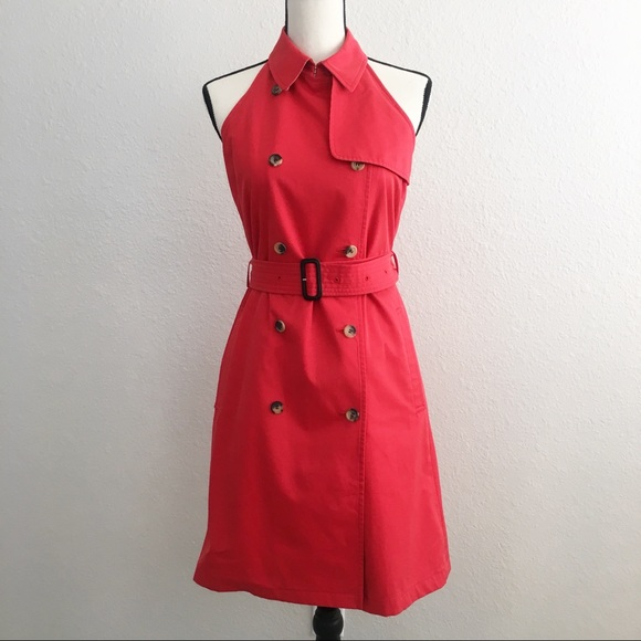 9f35b684fcd Burberry Dresses   Skirts - Burberry Of London Red Trench Halter Dress